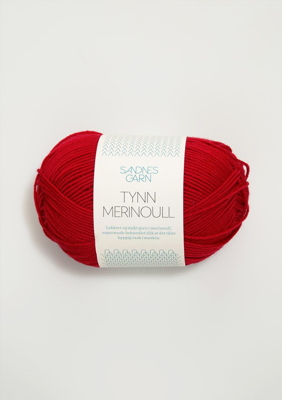 4219 Tynn Merinoull Rød