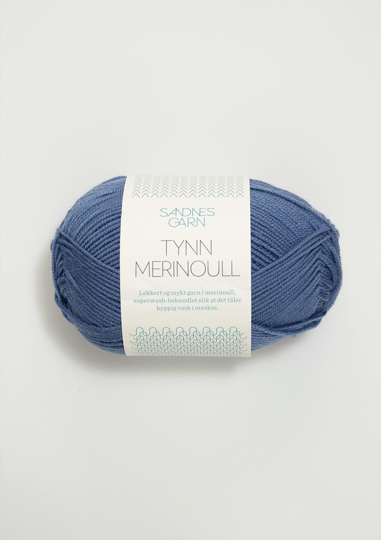 6052 Tynn Merinoull Jeansblå
