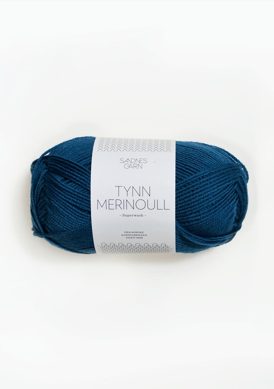 6063 Tynn Merinoull Inkblå