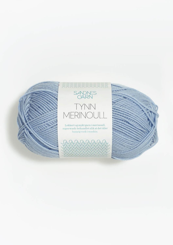 6531 Tynn  Merinoull Isblå