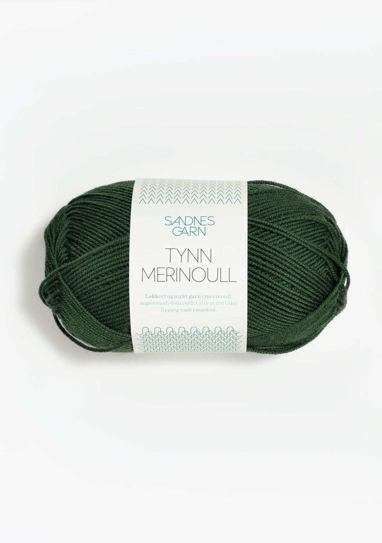 8072 Tynn  Merinoull Skoggrønn