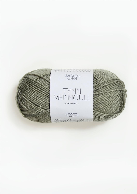 8521 Tynn Merinoull Støvet Lys Grønn