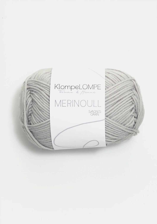 1020 KlompeLOMPE  Merinoull Mørk Kitt
