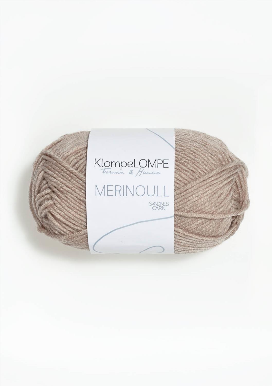 2650 KlompeLOMPE Merinoull Beigemelert