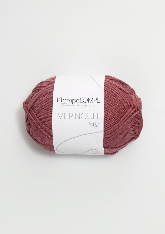 4344 KlompeLOMPE Merinoull Mørk Pudderrosa