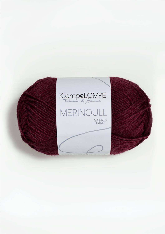 4554 KlompeLOMPE Merinoull Mørk Rustrosa
