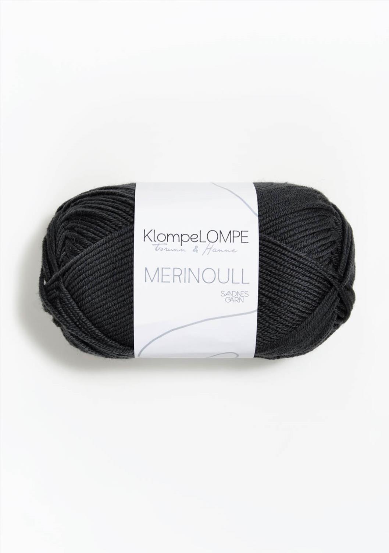 5885 KlompeLompe Merinoull Dempet sort