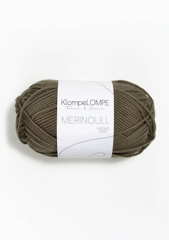 9851 KlompeLompe Merinoull Lys Støva Oliven