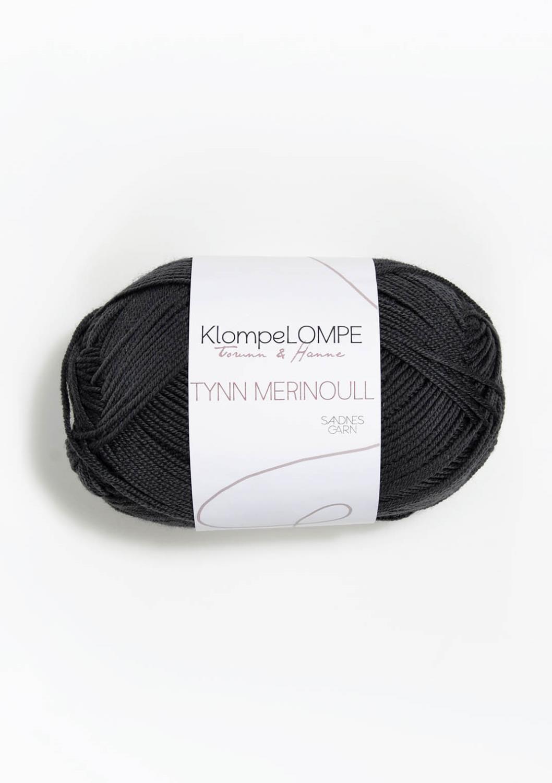 5885 KlompeLompe Tynn Merinoull Dempet Sort