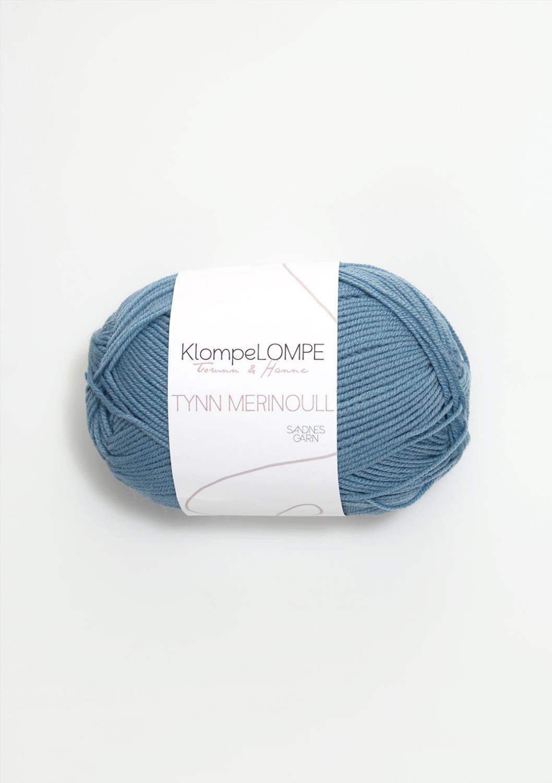 6033 KlompeLOMPE Tynn Merinoull Jeansblå