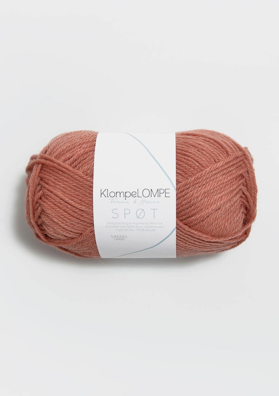 3544 KlompeLOMPE SPØT Brunrosa