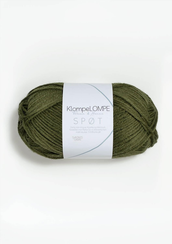 9554 KlompeLOMPE SPØT Olivengrønn