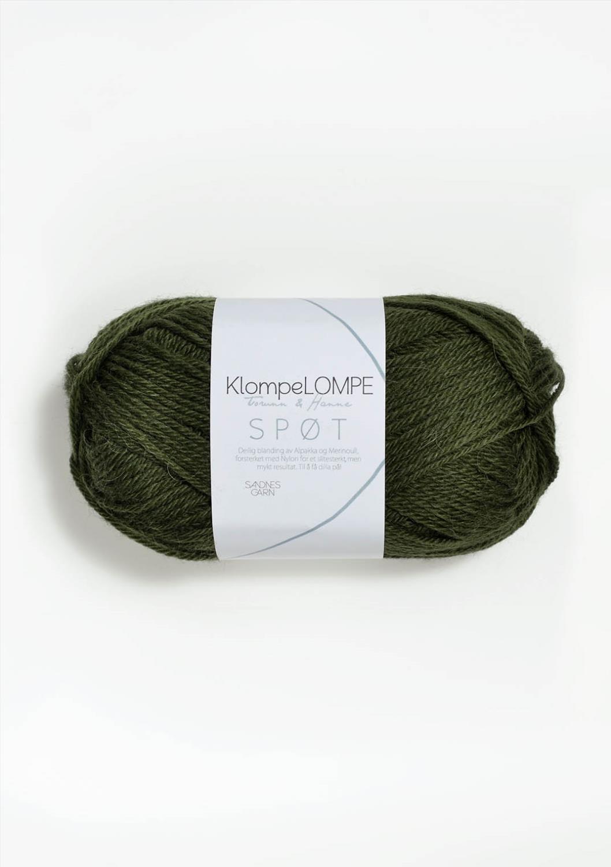 9573 KlompeLOMPE SPØT Mosegrønn