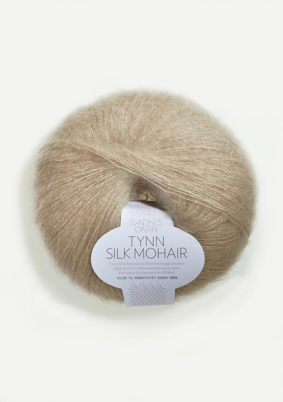 3021 Tynn Silk Mohair Lys Beige
