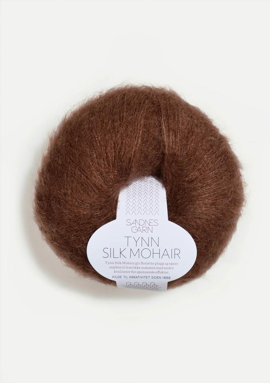 3072 Tynn Silk Mohair Mørk Brun