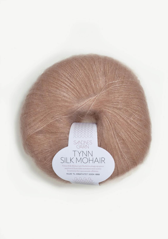 3511 Tynn Silk Mohair Pudder Rosa