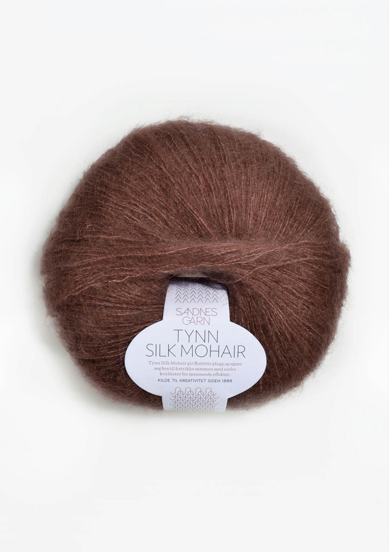 4062 Tynn Silk Mohair Støvet Brun