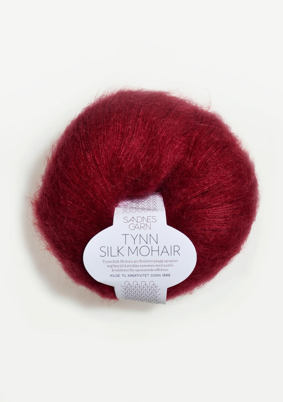 4236 Tynn Silk Mohair Dyp Rød