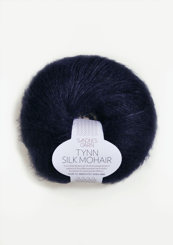 5581 Tynn Silk Mohair Dyp Marine