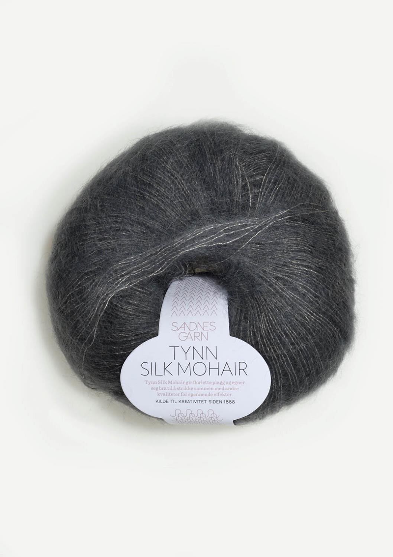 6707 Tynn Silk Mohair Stålgrå