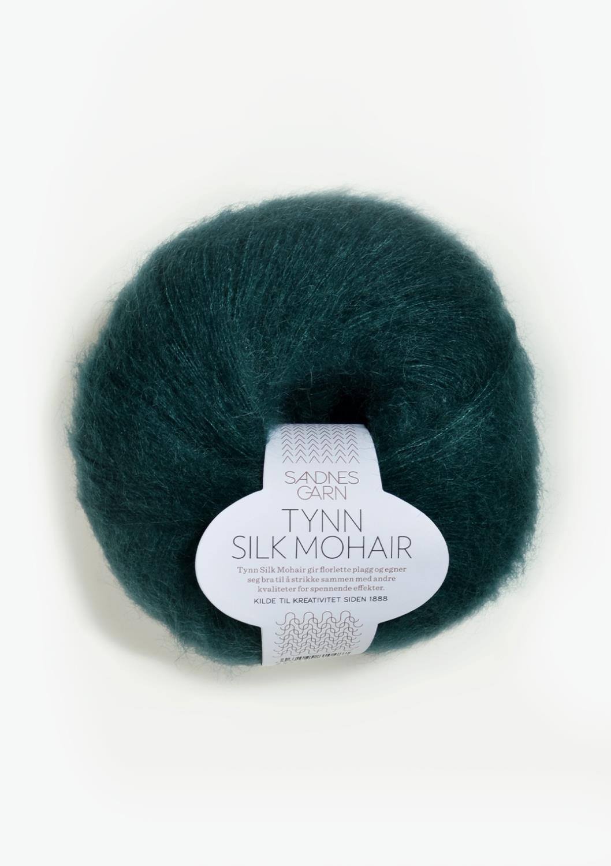 7272 Tynn Silk Mohair Dyp Petrol