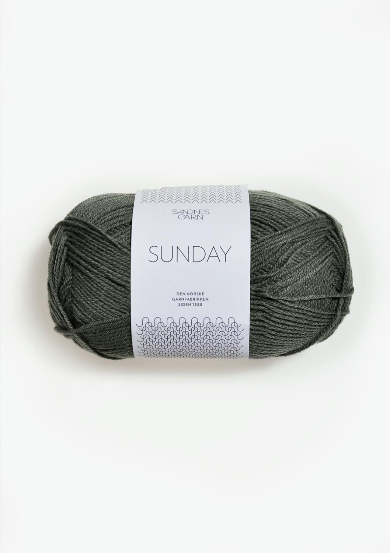 9071 Sunday Støvet Olivengrønn