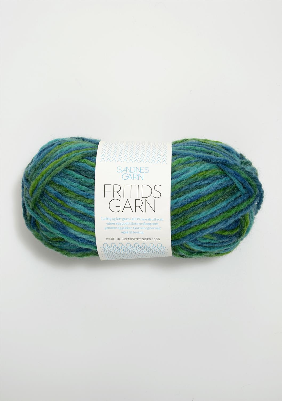 5900 Fritidsgarn Blå/Grønn PRINT