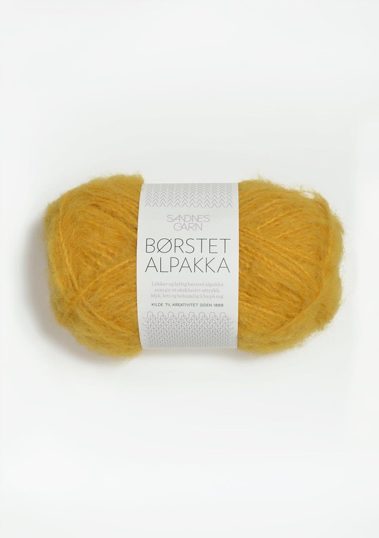 2127 Børstet Alpakka Gul