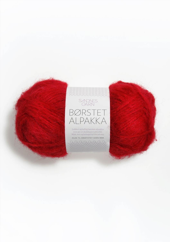 4219 Børstet Alpakka Rød