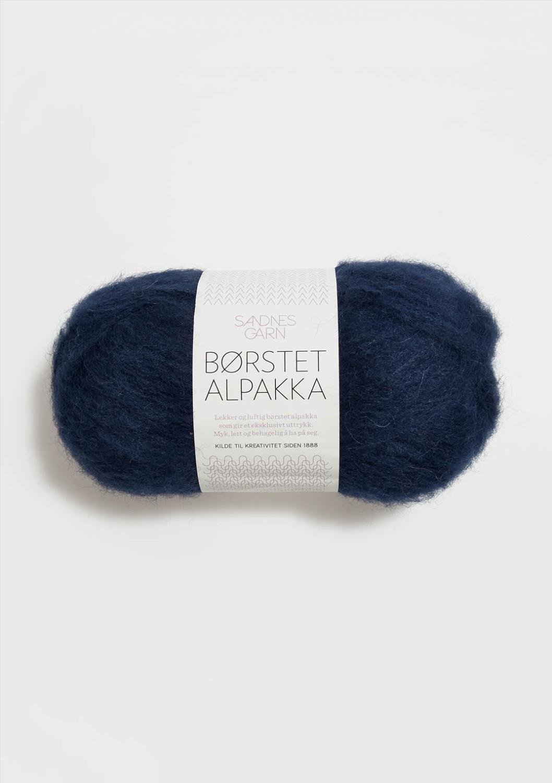 5575 Børstet Alpakka Marineblå