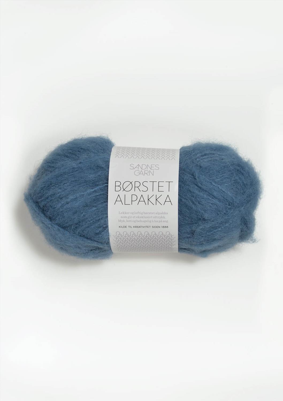 6042 Børstet Alpakka Mørk Himmelblå
