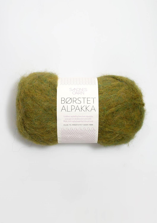 9645 Børstet Alpakka Bladgrønn
