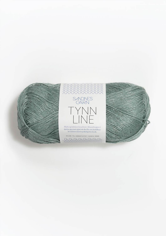 6841 Tynn Line Støvet Aqua