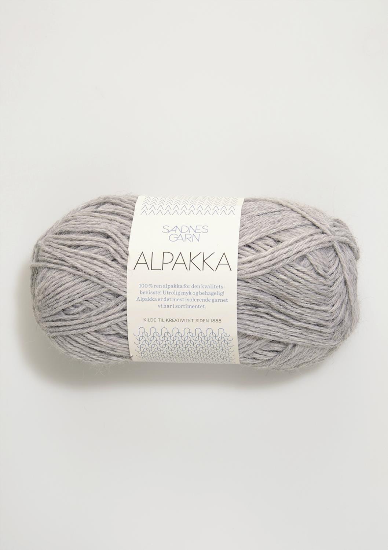 1032 Alpakka Lys Gråmelert