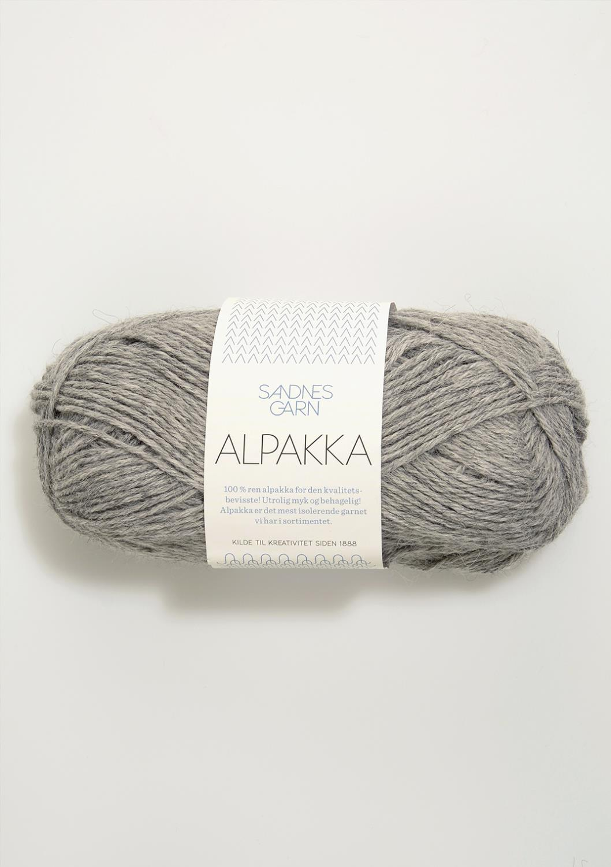 1042 Alpakka Gråmelert