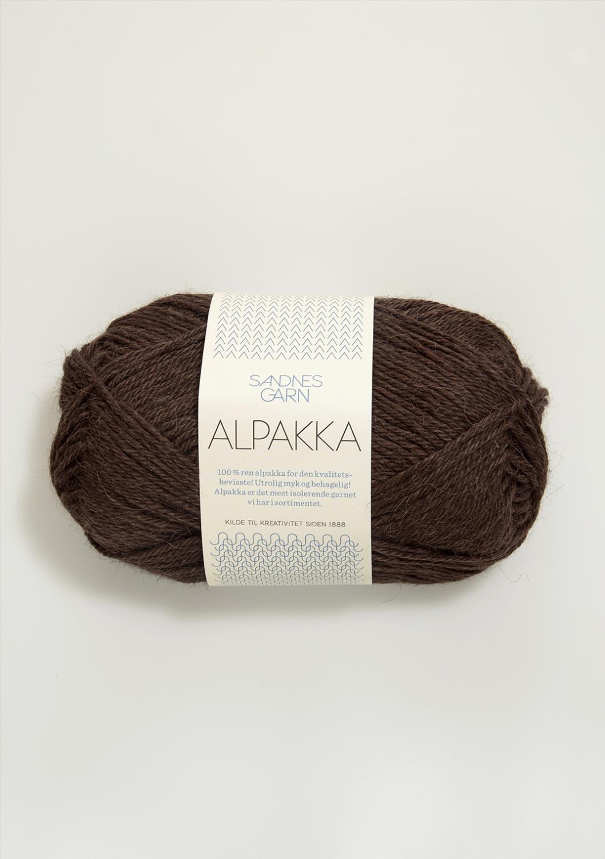 4071 Alpakka Mørk Brun