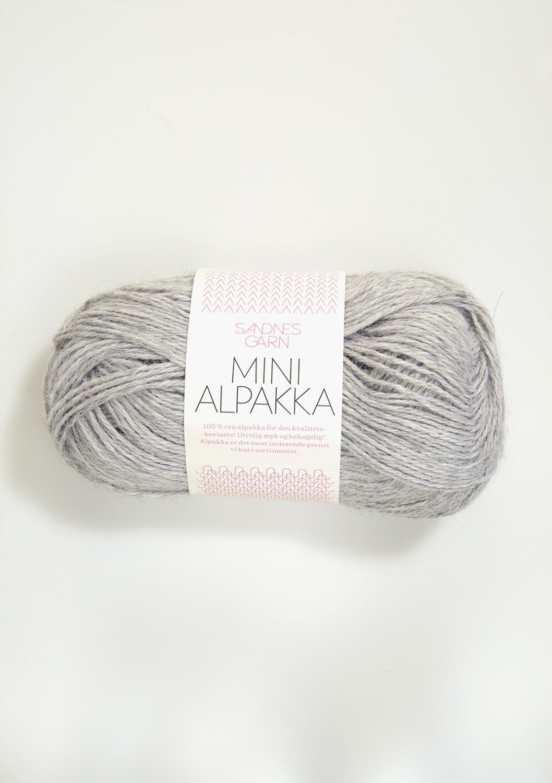 1032 Mini Alpakka Lys Gråmelert