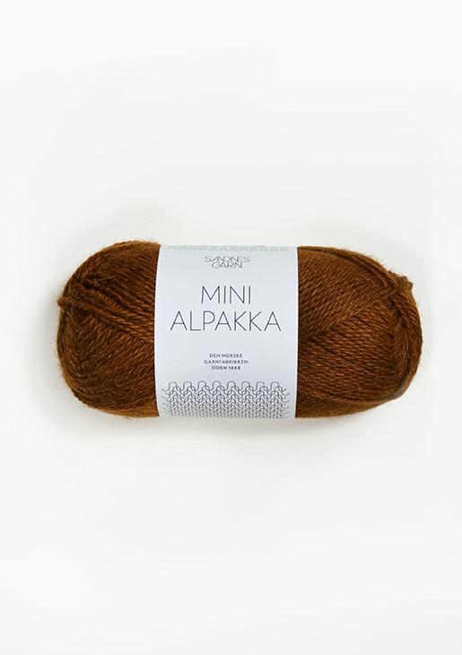 2564 Mini Alpakka Gyllenbrun