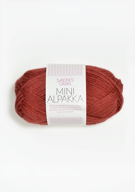 4035 Mini Alpakka Mørk Terrakotta