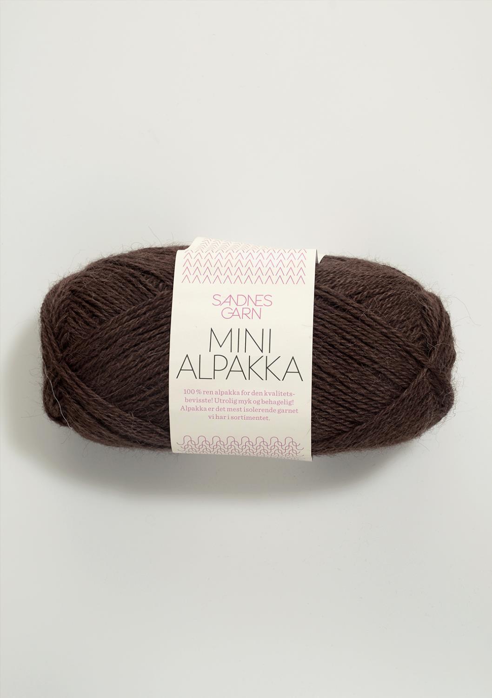 4071 Mini Alpakka Mørk Brun