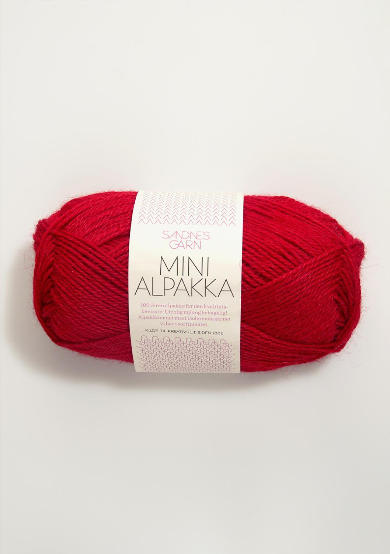 4219 Mini Alpakka Rød