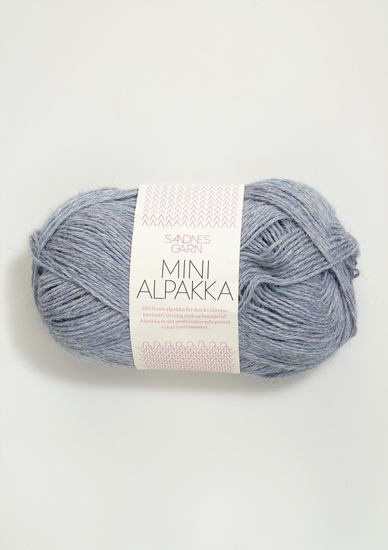 6221 Mini Alpakka Lys Blå melert