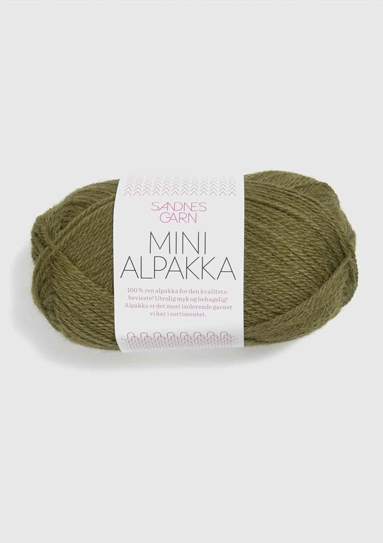 9554 Mini Alpakka Olivengrønn
