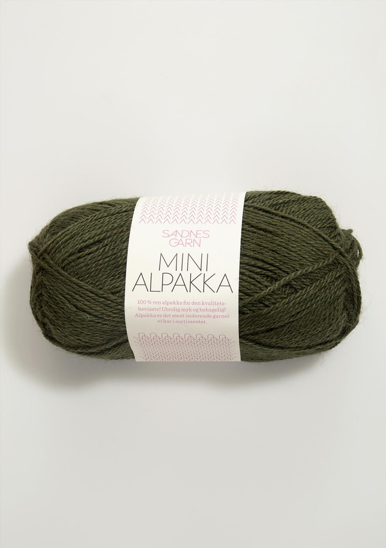 9573 Mini Alpakka Mosegrønn