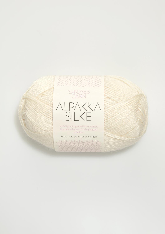 1002 Alpakka Silke Hvit