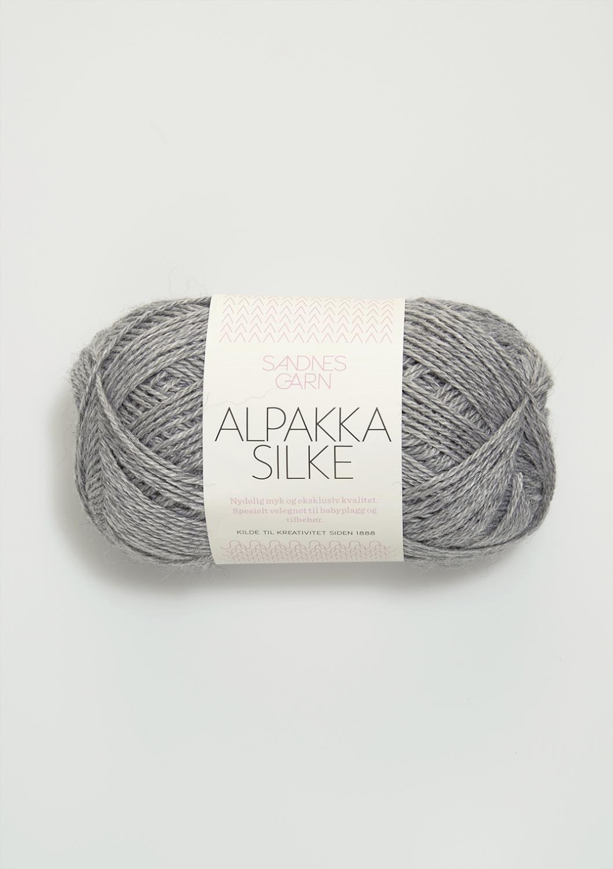 1942 Alpakka Silke Lys Gråmelert