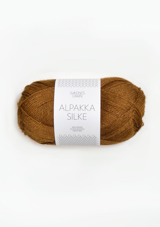 2564 Alpakka Silke Gyllen Brun