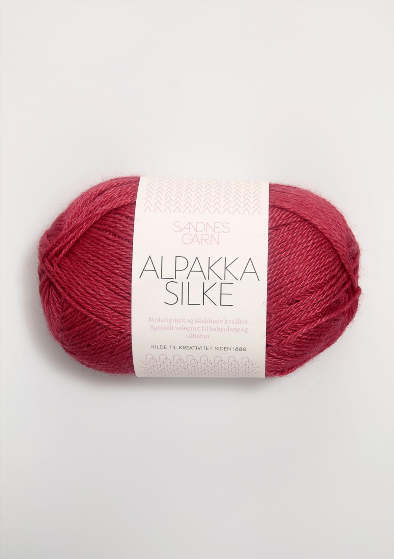 4327 Alpakka Silke Bringebær Rød