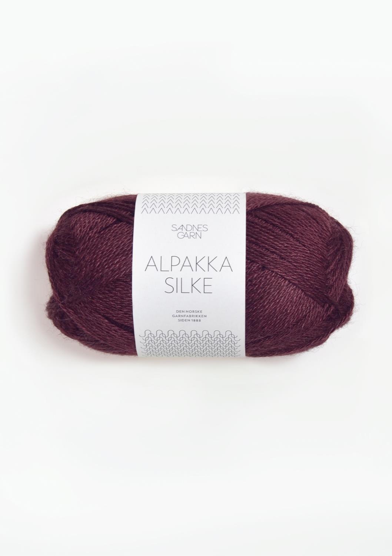 4372 Alpakka Silke Dyp Burgunder