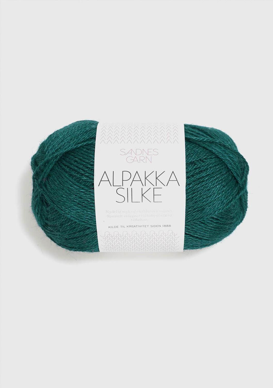 6765 Alpakka Silke Petrol